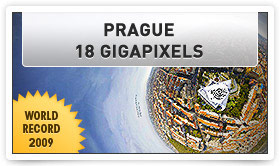 Prague panoramic picture 18 Gigapixels